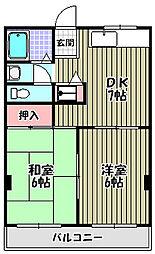 ハイツ井上[3階]の間取り