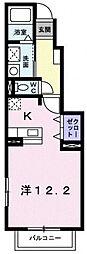 東京都日野市神明3丁目の賃貸アパートの間取り