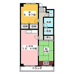 千波第一マンション[2階]の間取り