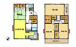 [一戸建] 埼玉県さいたま市中央区上落合3丁目 の賃貸【/】の間取り