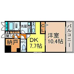 WillDo太閤通(ウィルドゥタイコウドオリ)[7階]の間取り