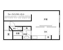 兵庫県姫路市土山5丁目の賃貸マンションの間取り