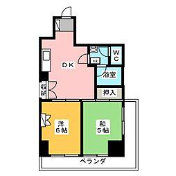 シャンボール静岡[2階]の間取り