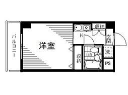 ベルトピア国分寺[3階]の間取り