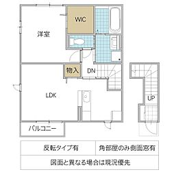 MISAKI 2階1LDKの間取り