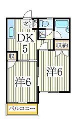ル・プーレ[2階]の間取り
