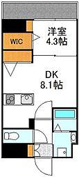 JR東海道・山陽本線 東淀川駅 徒歩1分の賃貸マンション 5階1DKの間取り