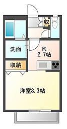 クローリスA[2階]の間取り