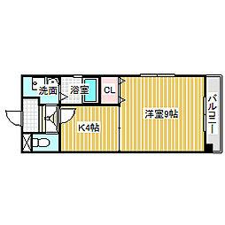 愛知県名古屋市中村区沖田町の賃貸マンションの間取り