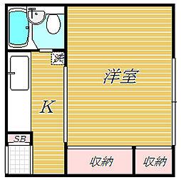 本町マンション[3階]の間取り
