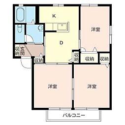 シャーメゾン相沢C[2階]の間取り
