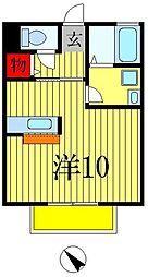 千葉県松戸市仲井町2丁目の賃貸アパートの間取り