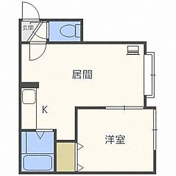 北麻生N37[2階]の間取り