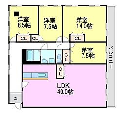レスポワール35[3階]の間取り
