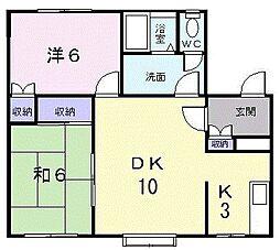 北海道札幌市東区苗穂町10丁目の賃貸アパートの間取り