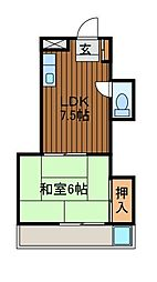 相模パークマンション[3階]の間取り