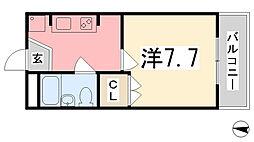 K・X御立[304号室]の間取り