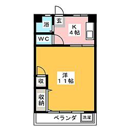 カヤノビル[5階]の間取り