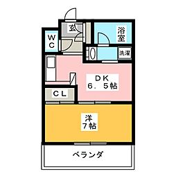 BON TourIII番館[1階]の間取り