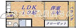 第2山一ビル[2階]の間取り