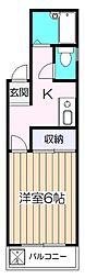 リバーサイド藤[2階]の間取り