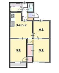 コーポみのり[3階]の間取り