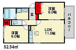 ファ・ベル・テンポ[2階]の間取り