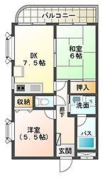 静岡県三島市の賃貸マンションの間取り