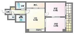 サニーマンション東部[3階]の間取り
