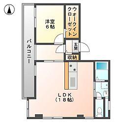 アトーレHAYASHI[6階]の間取り