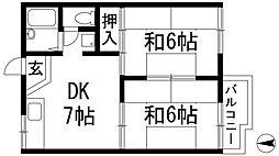 タウニィー清和[2階]の間取り