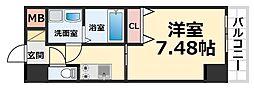 CROUD尼崎 8階1Kの間取り