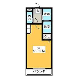 ゴールドコースト[4階]の間取り