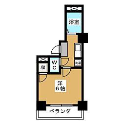 コモドエスぺシオ勝山[4階]の間取り