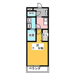 プリムール栄生[3階]の間取り