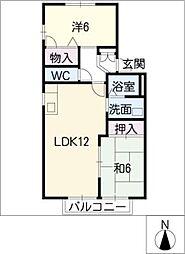 ドエル花水木[2階]の間取り