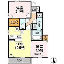 D−room南吉田(仮)[A105 号室号室]の間取り