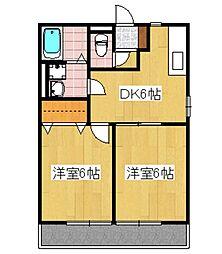 MアンドS6番館[202号室]の間取り