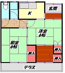 Osaka Metro谷町線 守口駅 徒歩21分の賃貸テラスハウス 1階2Kの間取り