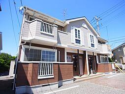 千葉県野田市山崎貝塚町の賃貸アパートの外観