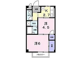 シーズ桜A[2階]の間取り