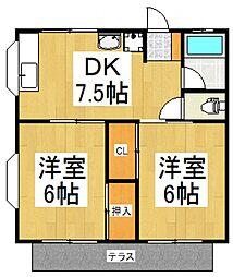 プレーンハイム[1階]の間取り