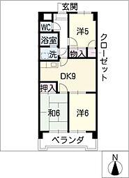 ジュフク松本[7階]の間取り