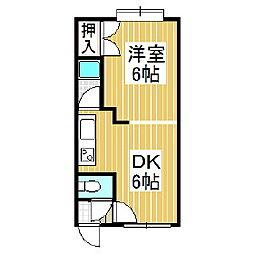 マイン日吉[3階]の間取り