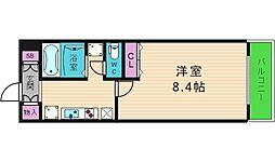 パラッツェット大阪城南[4階]の間取り
