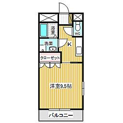 愛知県名古屋市港区名四町の賃貸アパートの間取り