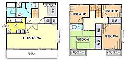 [一戸建] 東京都東村山市富士見町4丁目 の賃貸【/】の間取り