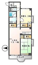 カーサ丸の内[2階]の間取り