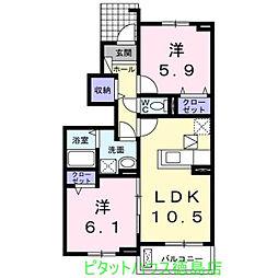 ナイト B[1階]の間取り