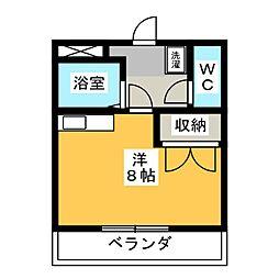 ハーモニアス桜山[2階]の間取り